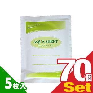 (貼付け型冷却材)(カナケン)アクアシート(AQUA SHEET)(5枚入) × 70個セット - 柑橘系の香り 水分含有量約70%でミネラル配合冷却材