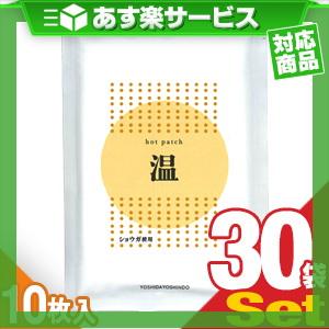 (あす楽対応)(ショウガ粉末使用)ホットパッチ 10×14cm(10枚入り) x30袋 - ピリピリ感が少なく芯から温かさを感じる温湿布
