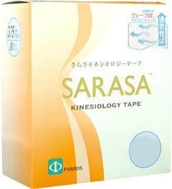 (SARASA)さらさキネシオロジーテープ(ケース20個入り) - かぶれにくいウェーブ加工【smtb-s】