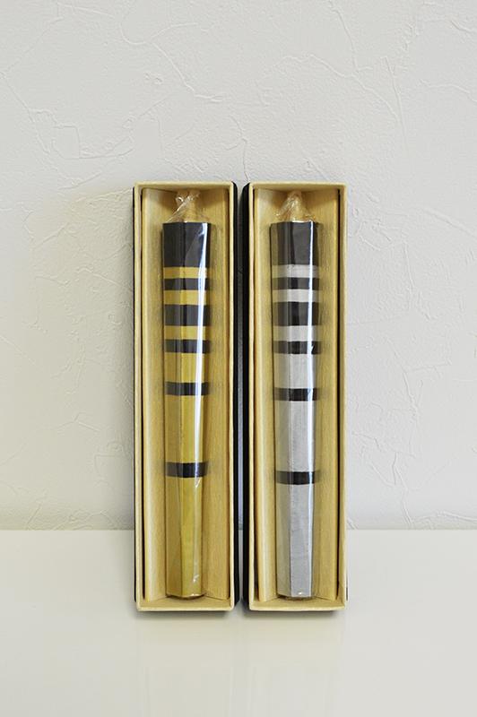 【送料無料】【ろうそく】【山形屋本店】ろうそく金銀Aセット(6角形2本セット) 10匁(17cm)