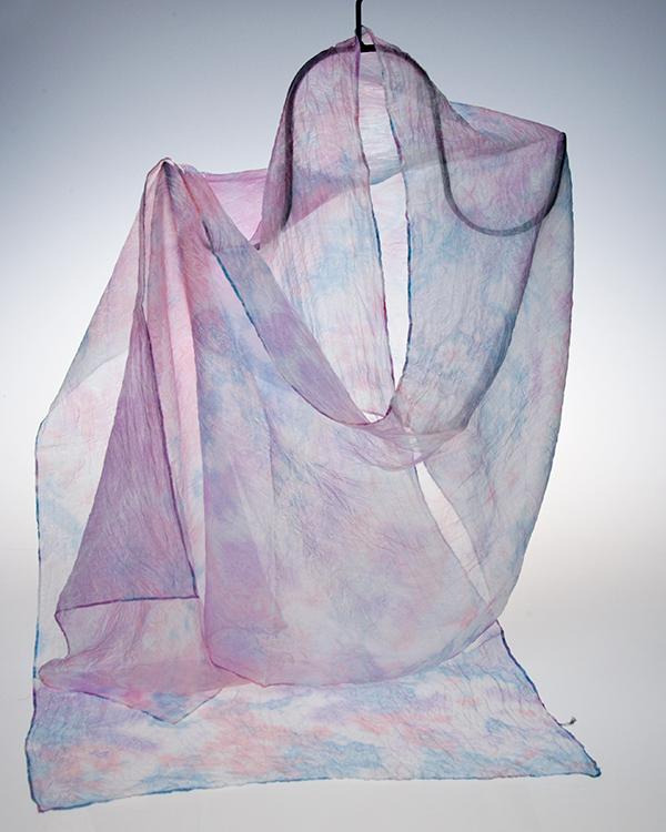【送料無料】【川俣シルク】シルクストール(大) 紫陽花