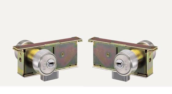 GOAL P-2510-6 2セット 同一キー ガラス戸錠 両面シリンダー