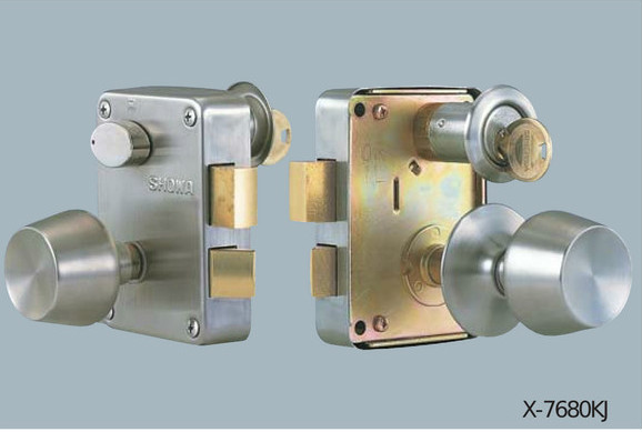 面付錠 ユーシン 中古 ショウワ 捧呈 外開用 6本ピンシリンダー 7680KJ