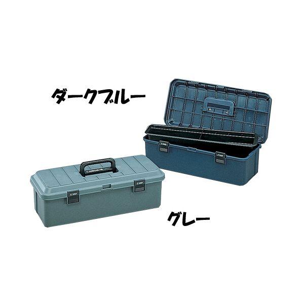 大工道具(ノコギリ)などの長尺物の収納に!ハードケース 700ダークブルー・グレー[コンテナ/工具箱/工具ケース/ツールボックス/おもちゃ箱/収納/小物 /整理/片付け/アイリスオーヤマ]