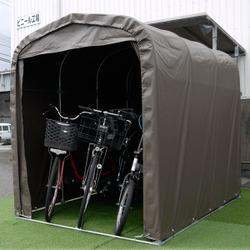 【スーパーセール】 サイクルガレージ 自転車置き場】:住まいと暮らしの110番 SH6-SB【D】【南榮工業 サイクルハウス-エクステリア・ガーデンファニチャー