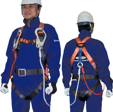 【ツヨロン】ツヨロン 2本式フルハーネス安全帯 オレンジ R502DZ1ORBX【保護具/安全帯】【TC】【TN】10052