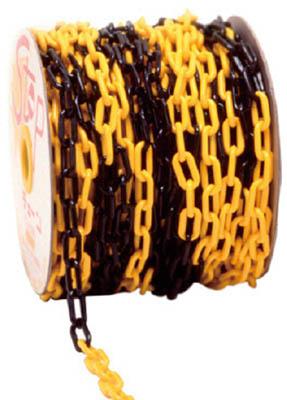 【ミツギロン】ミツギロン プラチェーン 6mm 黄黒トラ PCYB6【安全用品/保安用品/ミツギロン/チェーン/プラチェーン/プラスチックチェーン】【TC】【TN】8094