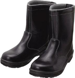 【23.5cm】半長靴(SX3層底)SS44-23.5(株)シモン【靴/黒/長靴】【工具/機械/作業/大工/現場】【T】12571