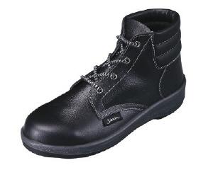 【26.0cm】軽量中編上靴(ウレタン 2層底)7522N-26.0(株)シモン【靴/黒】【工具/機械/作業/大工/現場】【T】12489