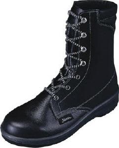 【27.5cm】軽量長編上靴(ウレタン2層底)7533N-27.5(株)シモン【靴/黒】【工具/機械/作業/大工/現場】【T】12542