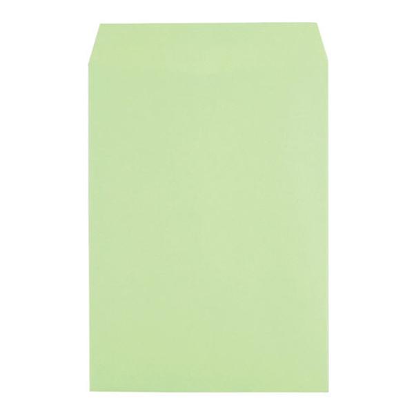 カラークラフト封筒 角2 ウグイス【J】【TC】【イムラ封筒】16125