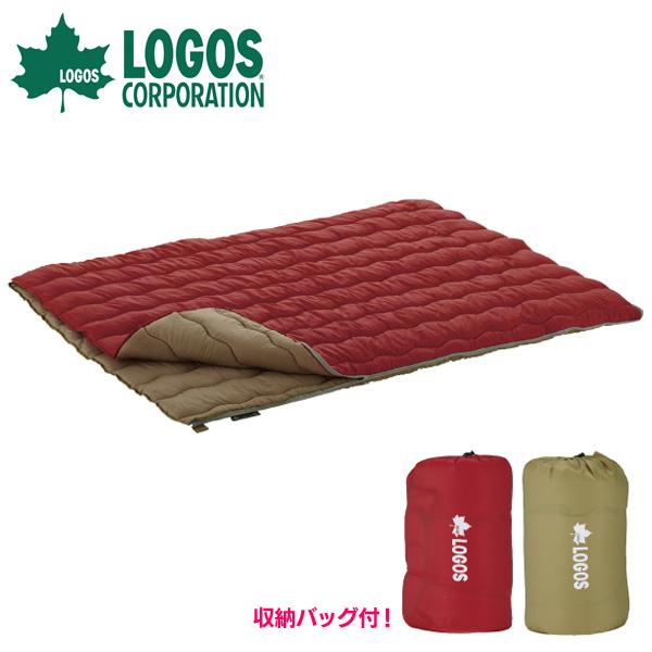 【送料無料】ロゴス(LOGOS) 2in1・Wサイズ丸洗い寝袋・0【D】【NW】[車中泊 シュラフ 寝袋 おしゃれ テント キャンプ アウトドア レジャー 登山]