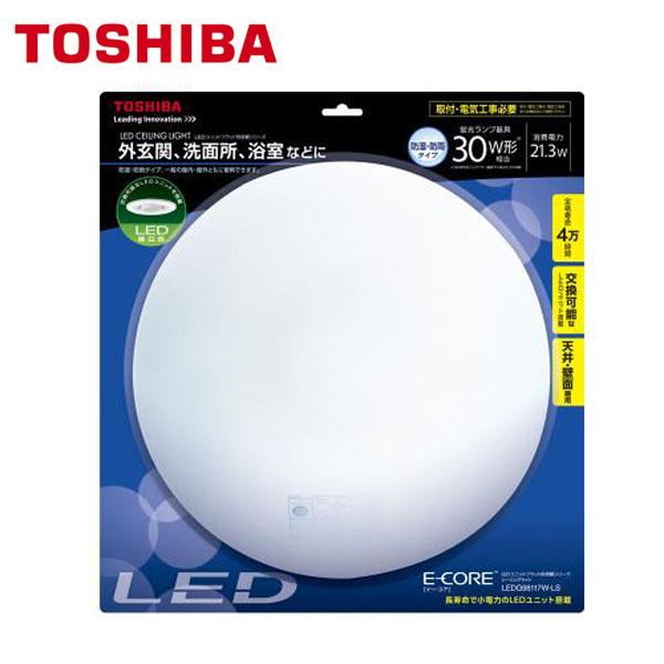 【送料無料】東芝 小型LEDシーリング外玄関30WLEDG98117W-LS 昼白色【TC】【OHM】【オーム電機】