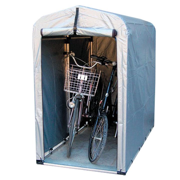 サイクルハウス スリムタイプ 高耐久シート 2S-TSV送料無料 自転車 ガレージ スタンド 2台 自転車スタンド 自転車2台 ガレージスタンド スタンド自転車 2台自転車 スタンドガレージ アルミス シルバー【TD】