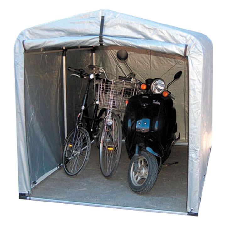 サイクルハウス ワイドタイプ 高耐久シート 3S-TSV送料無料 自転車 ガレージ スタンド 3台 自転車スタンド 自転車3台 ガレージスタンド スタンド自転車 3台自転車 スタンドガレージ アルミス シルバー【TD】
