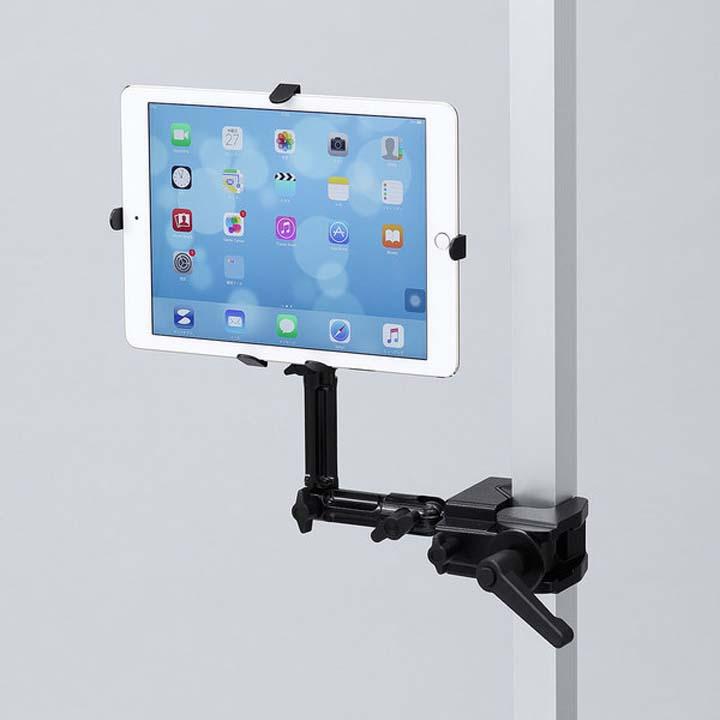 7~11インチ対応iPad・タブレット用支柱取付けアーム CR-LATAB22送料無料 タブレットアーム クランプ式 アーム iPad タブレットアームアーム タブレットアームiPad クランプ式アーム アームタブレットアーム iPadタブレットアーム サンワサプライ 【D】