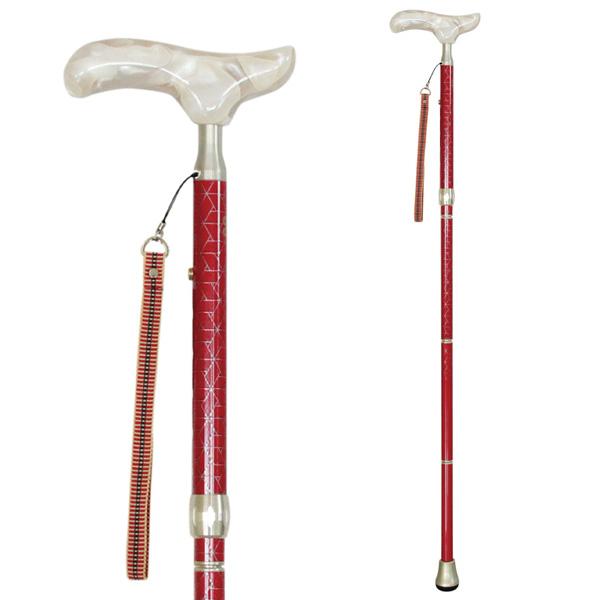 sinano stick [KAINOS sanada RED]シナノ 歩行杖・ステッキ カイノス真田 赤(女性向け) 15%OFF 【送料無