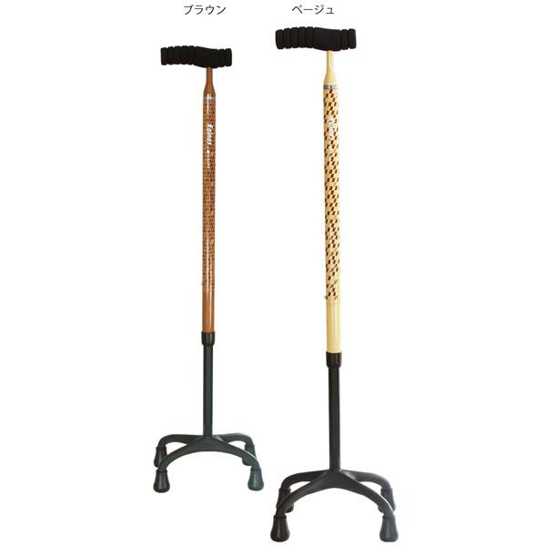 sinano stick [ カイノス ソフトグリップカーボン四点杖 @17000] シナノ 歩行杖・ステッキ KAINOS SOFT