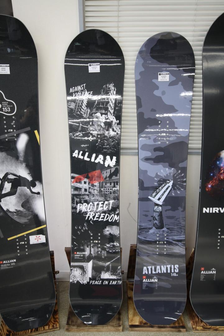 ALLIAN SNOWBOARD 【 DAMAGE @70200】 アライアン スノーボード 【正規代理店商品】【送料無料】