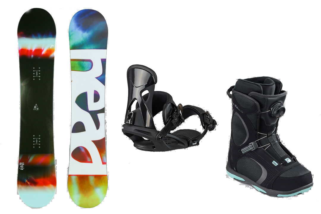 ボードケース無料 HEAD SNOWBOARDS [ ウーメンズ スノーボード 3点セット ABILITY FLOCKA スノボ @122040] 【送料無料】【正規品】
