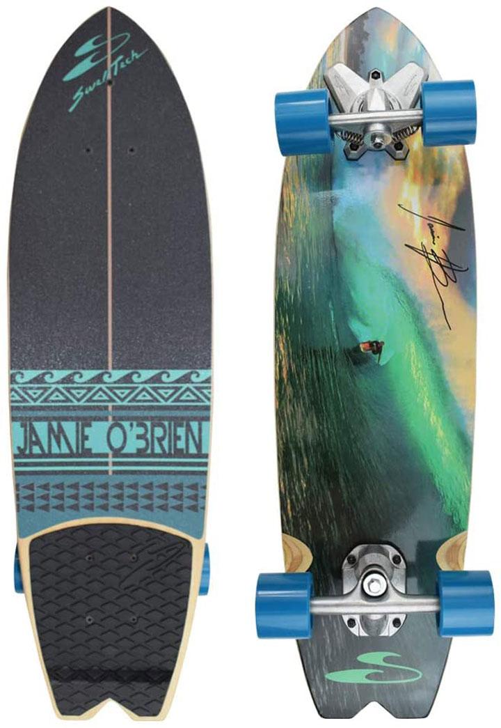 SURFSKATE サーフスケート ボード [ JAMIE O'BRIEN PRO MODEL PIPE LINE @35000] Swell Tech スウェルテック スケボ コンプリート