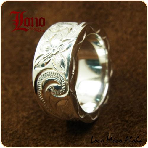 除了卢努夏威夷珠宝戒指 RF010 配对小指戒指卢努环杂志出版的环洛诺离点 GI makanilea。