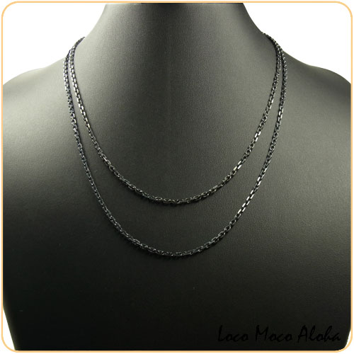 Black Coated Anchor Chain Ssac 045 Ss 45 Cm Hawaiian Jewelry Color 925 Silver Except For The Outlying Islands