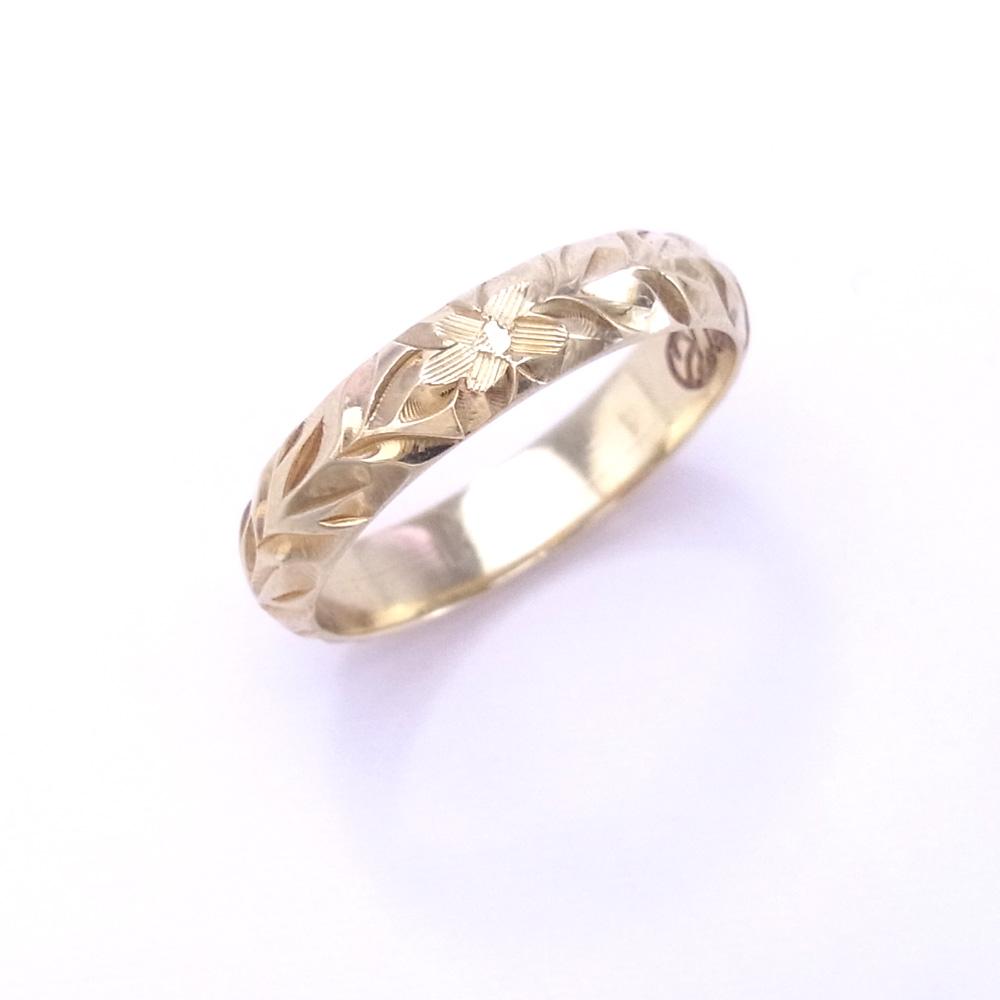 Locomocoaloha Made To Order Hawaiian Jewelry Bridal Ring Pair