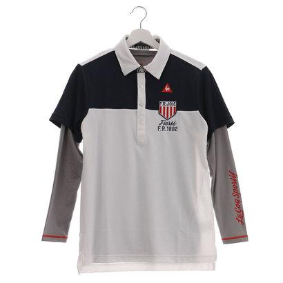 【アウトレット】ルコックゴルフ le coq GOLF メンズ ゴルフ セットシャツ レイヤード半袖シャツ QG1065CP