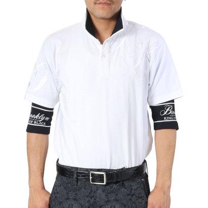 カールカナイゴルフ Karl Kani Golf 6分袖フェイクレイヤードベア天吸水速乾ポロ (シロ)