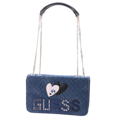ゲス GUESS CAREY CONVERTIBLE CROSSBODY FLAP (DENIM)