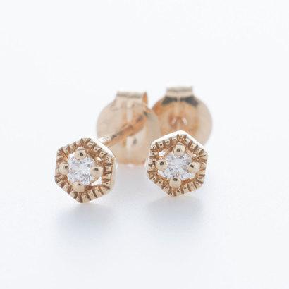ソーイ sowi 【K10・ダイヤモンド】幸せを運ぶもの 蜂の巣ピアス (ゴールド)