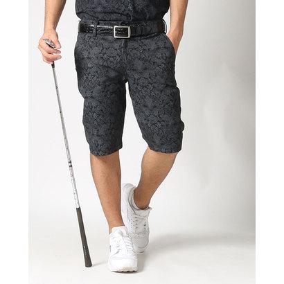 カールカナイゴルフ Karl Kani Golf ゴシック総柄接触冷感ストレッチショーツ (クロ)