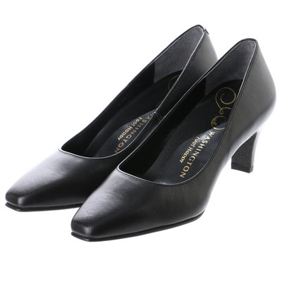 銀座ワシントン WASHINGTON Foot Happy 850-F56120 プレーンパンプス2E/6cmヒール (ブラック)
