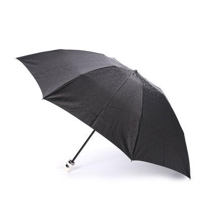ホワイ Why ハーネスジャカード 折り畳み傘 (ブラック×アイボリー)
