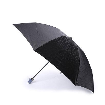 ホワイ Why ハーネスジャカード 折り畳み傘 (ブラック×ネイビー)