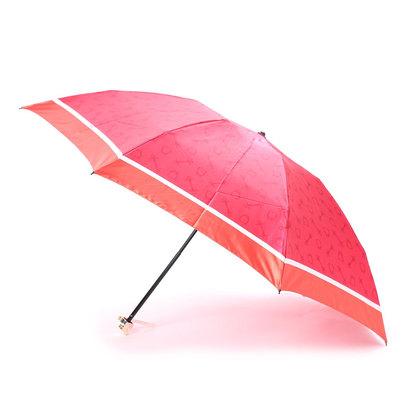 ホワイ Why バイカラーハーネスプリント 折り畳み傘 (レッド×アイボリー)