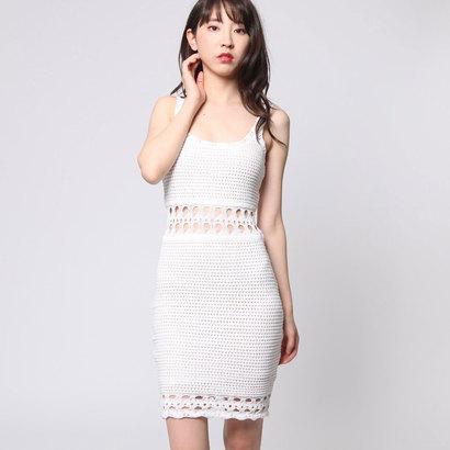 【アウトレット】ゲス GUESS SL CASSIDY CROCHET DRESS (WHITE ALYSSUM)