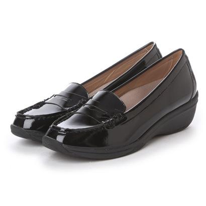 (ブラック) 【雑誌CREAコラボ商品】 クレア 【アウトレット】 【ガマンしない靴】 CREA ウエッジ