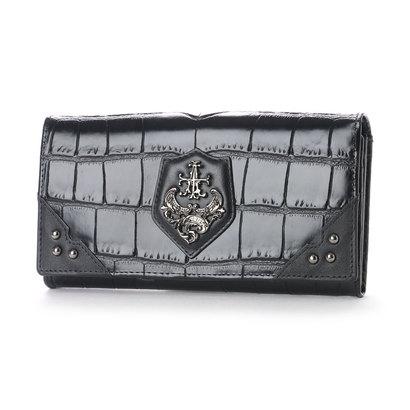 アルセラピィ artherapie クロコディル かぶせ長財布 (ブラック)