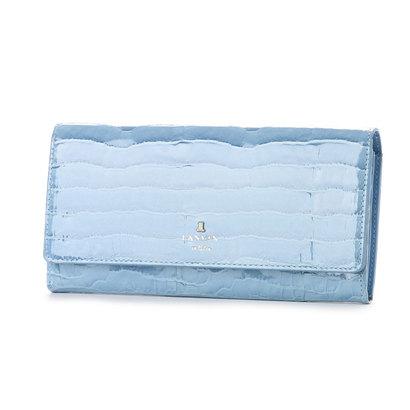 ランバン オン ブルー LANVIN en Bleu マゼンダ フラップ長財布 (ブルー)