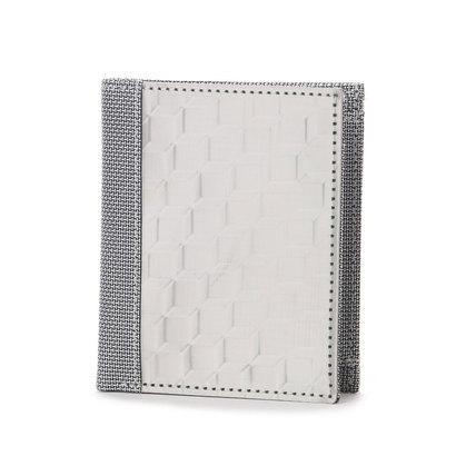 スチュワート スタンド STEWART/STAND ステンレス糸のコインケース付きウォレット/3D ボックス (シルバー/3D ボックス)