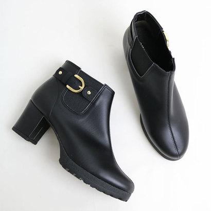 glitter ブランコワール Balancoire 日本製 晴雨兼用ショートブーツ (ブラック)