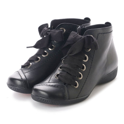 【アウトレット】ミラスポーツ Milla Sports 3E 楽ちんりぼんデザインブーツ (ブラック)