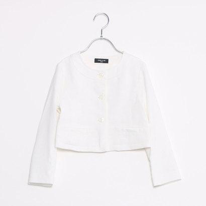 コムサイズム COMME CA ISM スラブツィードジャケット (ホワイト)