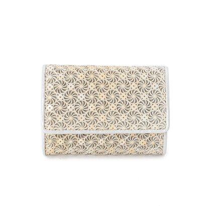 ヒロコ ハヤシ HIROKO HAYASHI GIRASOLE(ジラソーレ) ミニ三つ折財布 (シルバー)