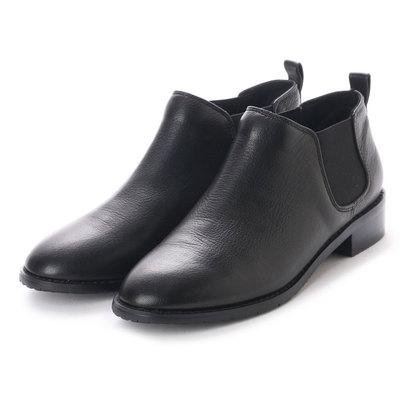 【アウトレット】ベルフローリー BELL FLORRIE サイドゴムチャッカーブーツ (ブラック)