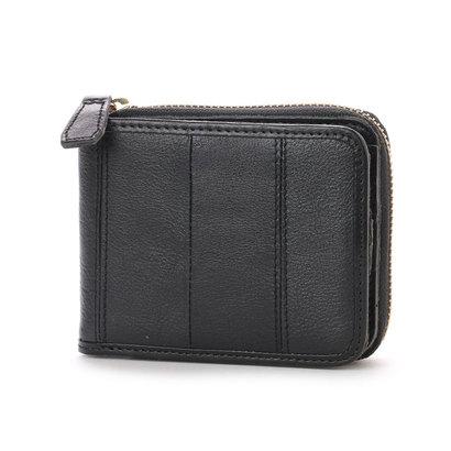 オティアス Otias ヌメカウレザーオイル加工仕上げ二つ折り財布 (BK)