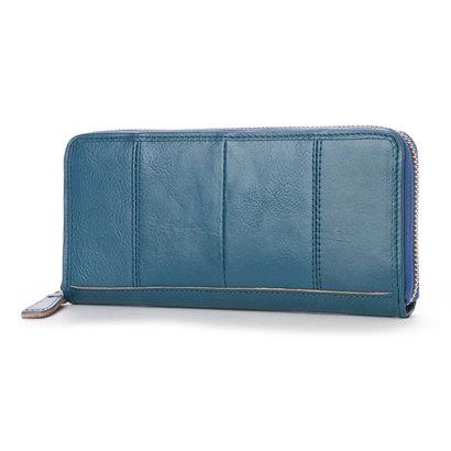 オティアス Otias ヌメカウレザーオイル加工仕上げラウンドファスナー型長財布 (BL)