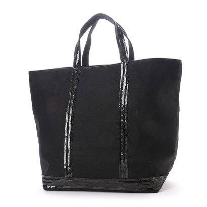 ヴァネッサブリューノ vanessabruno キャンバススパンコールトートバッグ(M/L) (ブラック)